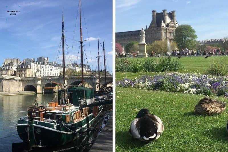 Having a nice stroll in Paris, France