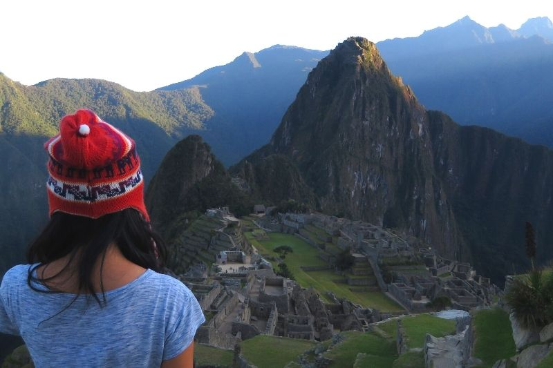 Exploring Machu Picchu at sunrise and having a picnic lunch