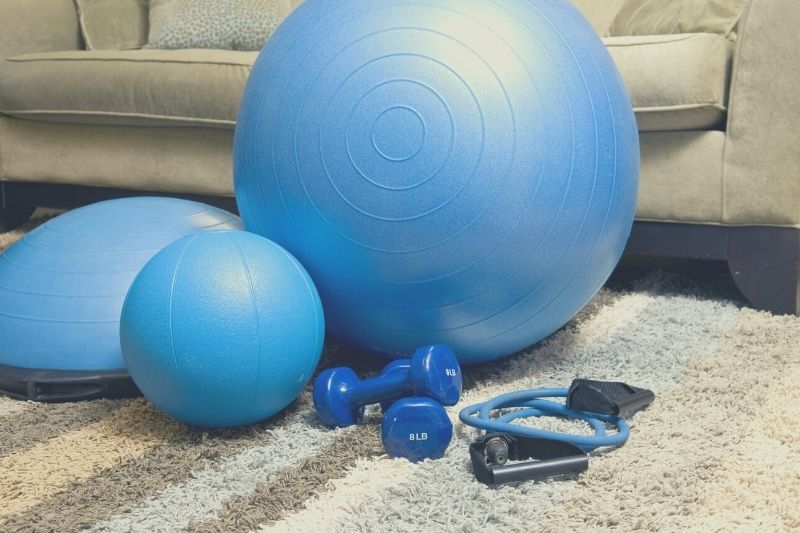 Stay in shape with a workout